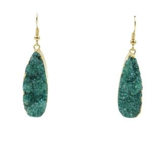 NEW! Kinsley Armelle Druzy Jade Earrings